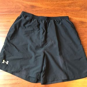 Under Armor running shorts with mesh liner